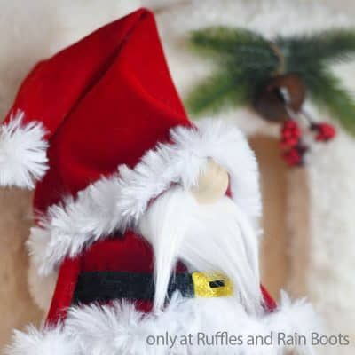 This Santa Gnome from a Cone is the Best DIY Christmas Gnome!