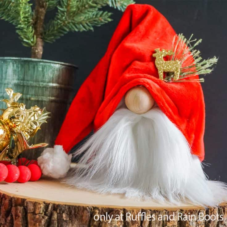 easy diy christmas gnome pattern Artboard 1