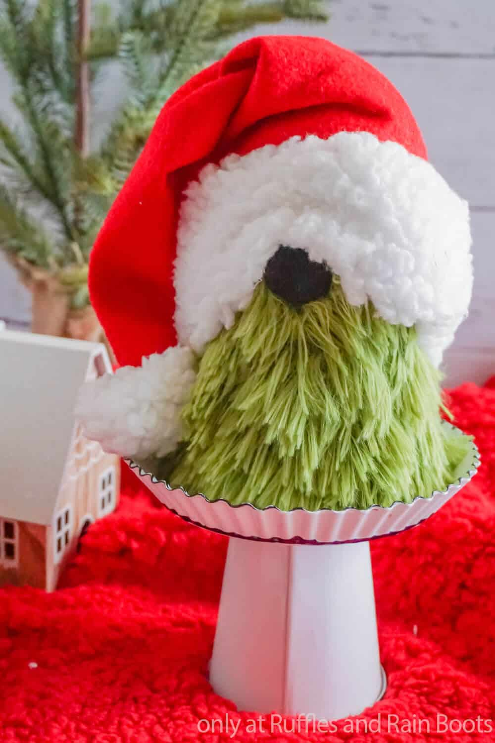 dollar store grinch gnome from a sock