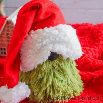 You Can Make This Grinch Dollar Store Gnome from a Sock In Minutes!