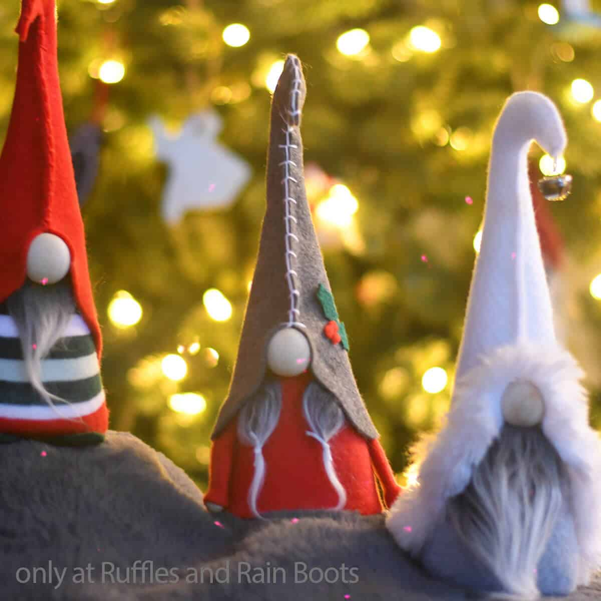 free gnome pattern for felt gnomes