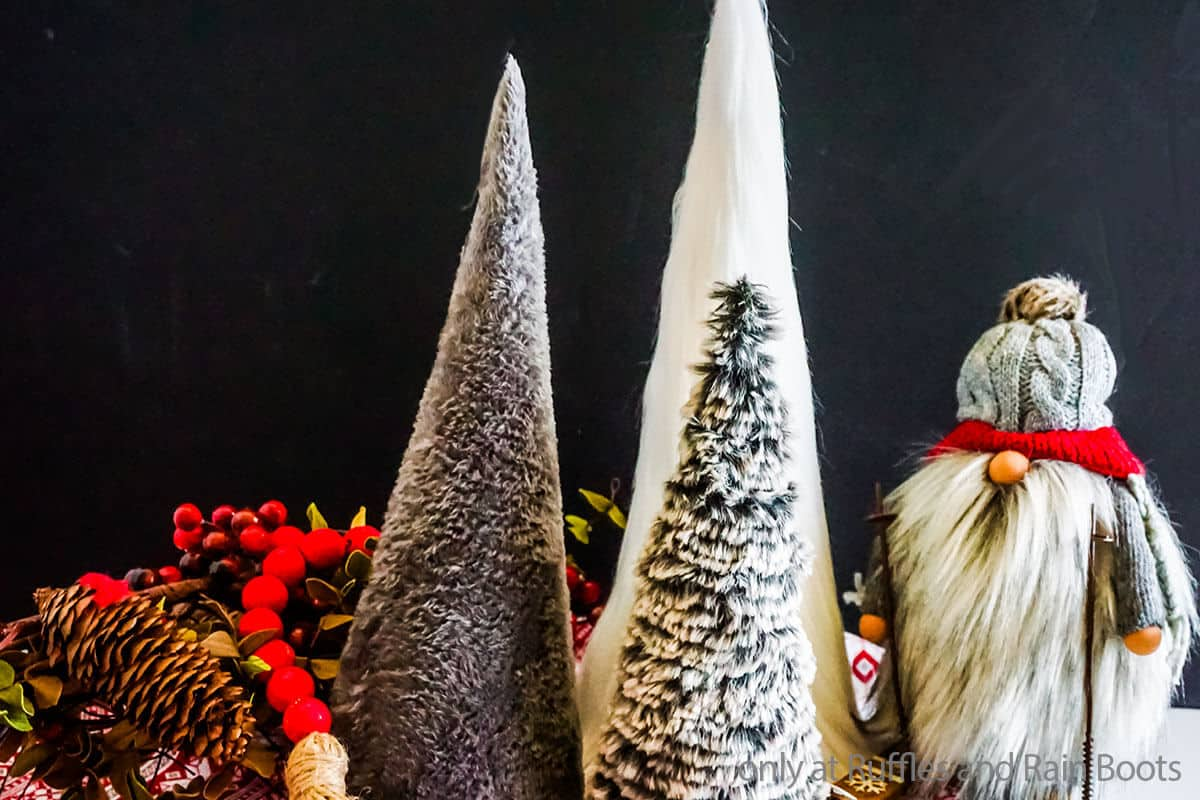 easy diy cone christmas trees made with faux fur