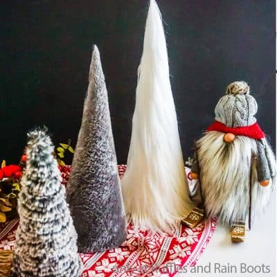 DIY Faux Fur Trees – 5-Minute Craft Made 3 Ways!
