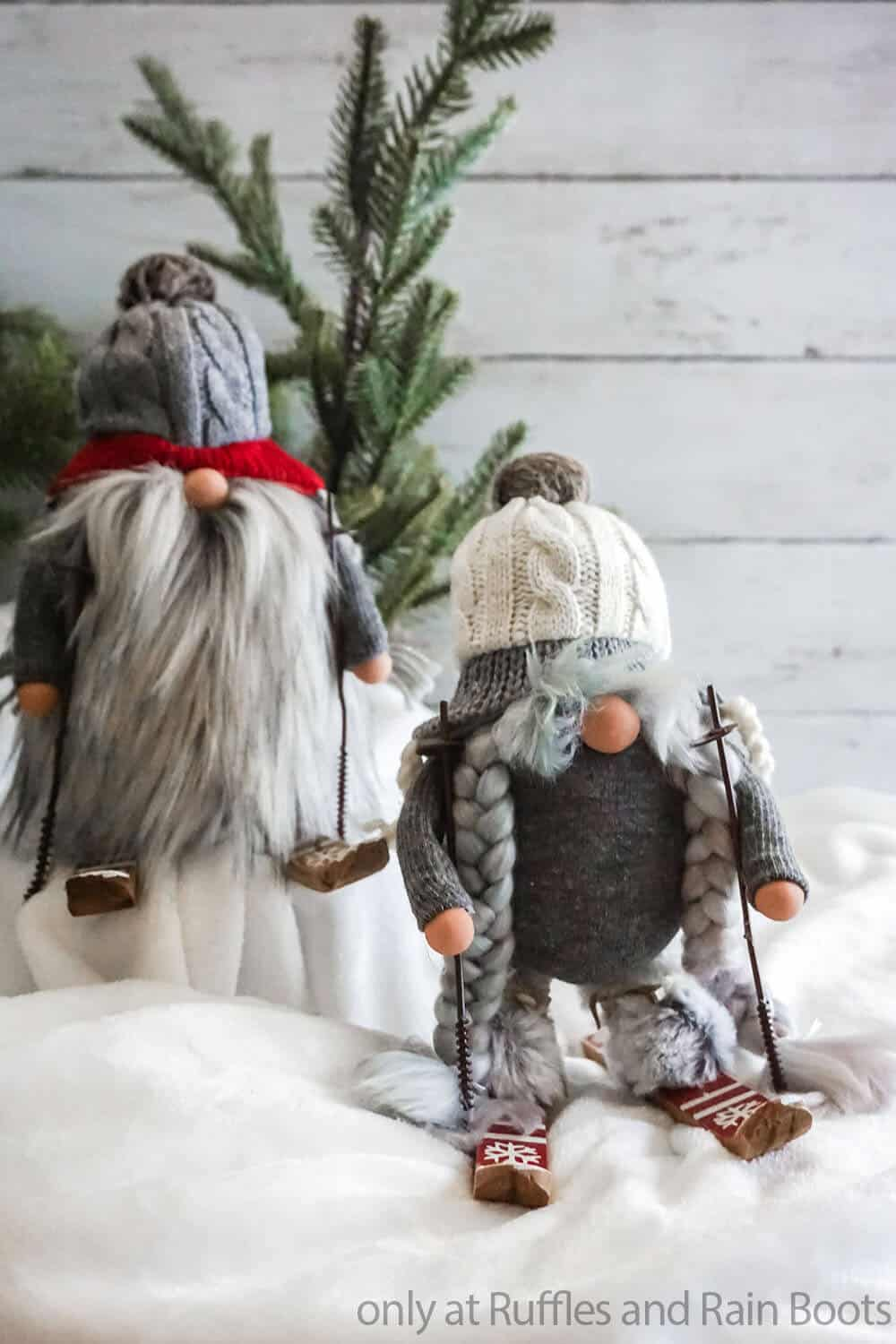 holiday farmhouse gnomes made from socks