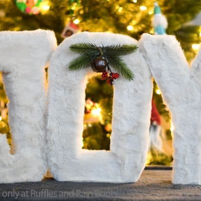 How to Make Faux Fur Letters for an EPIC Gnome Display!