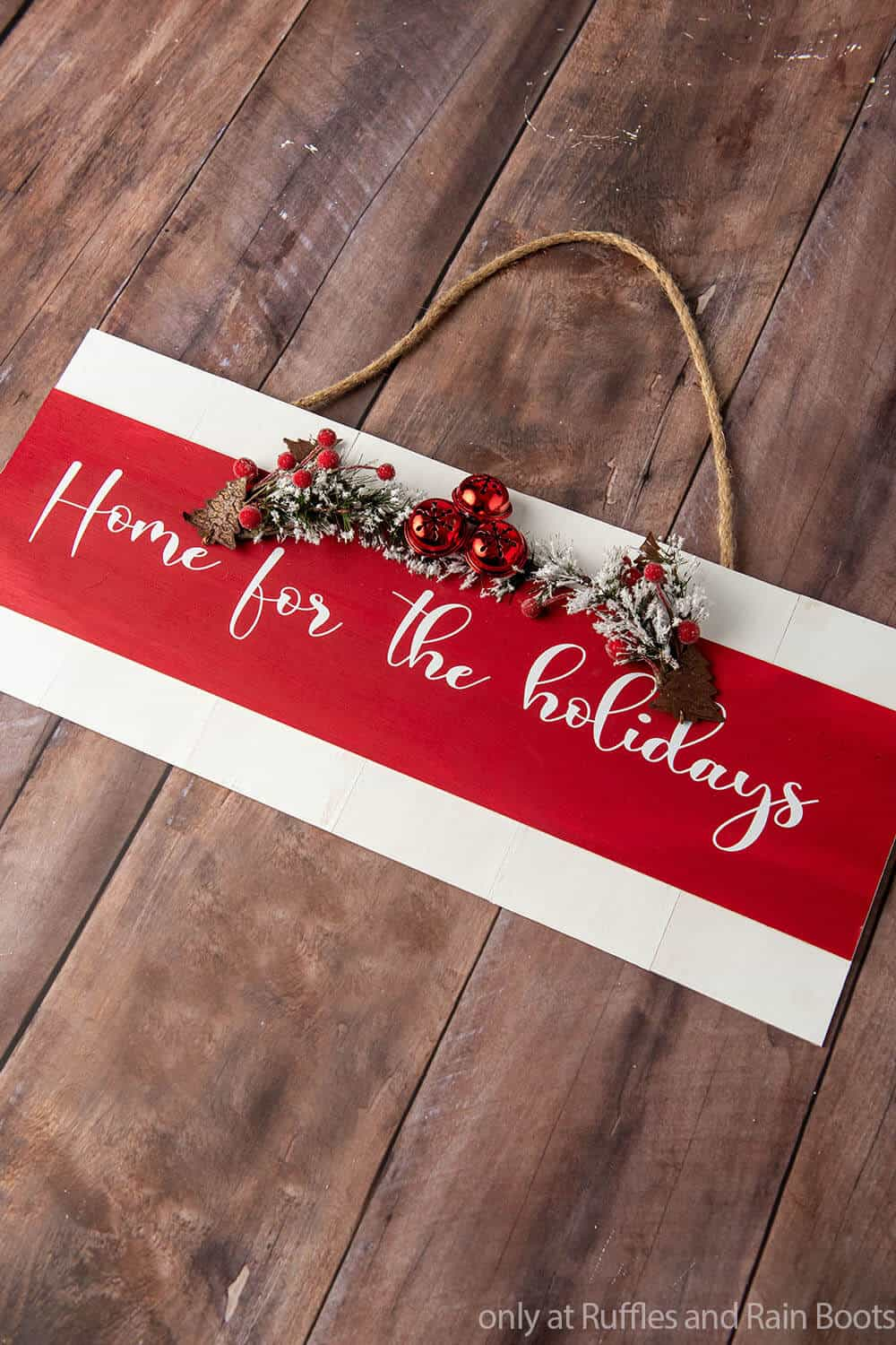 easy diy holiday craft wood sign