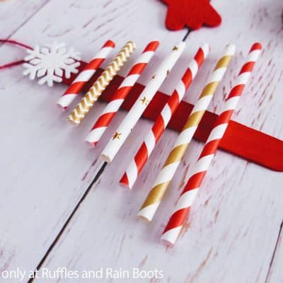 Paper Straw Christmas Tree Ornaments are a Great Christmas Kids Craft!