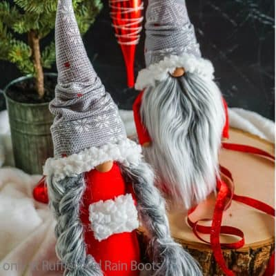 This DIY Sewn Christmas Gnome Pattern is the Best Scandinavian Gnome!
