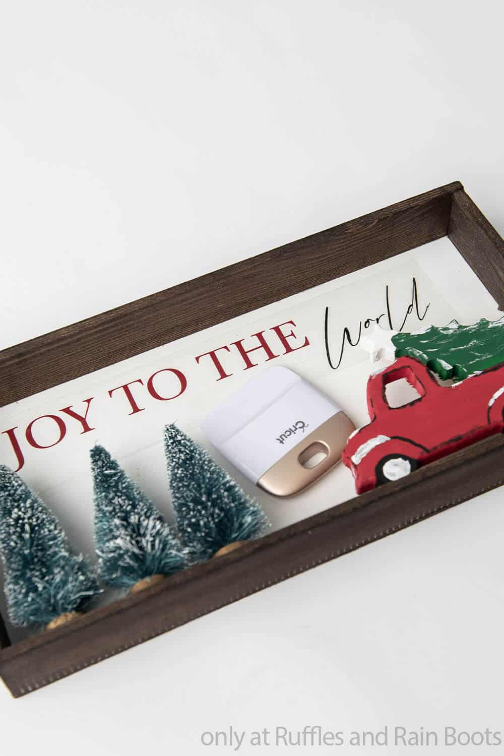 cricut cut files to make farm truck holiday sign