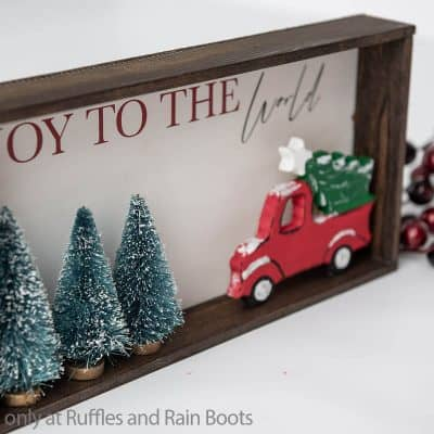 Make This Easy Rustic Farm Truck Holiday Sign Cricut Craft