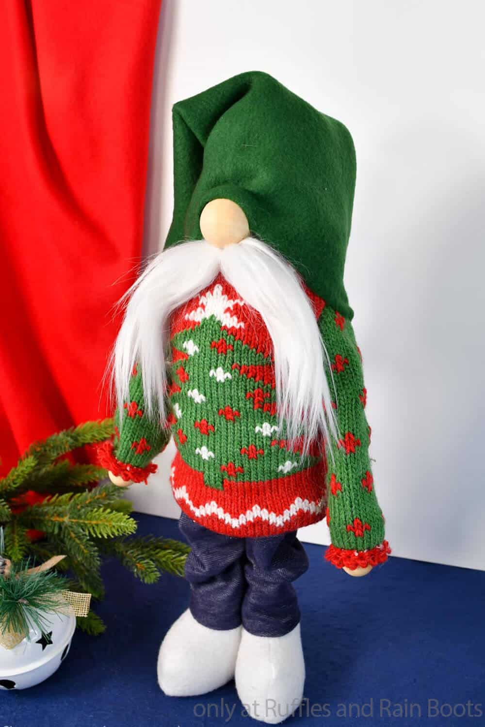 pattern for a standing sock gnome