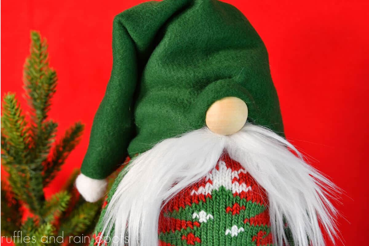 diy christmas gnome from a sock with pattern for shoes