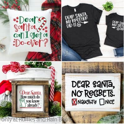This Adorable Dear Santa Christmas SVG Set is All the Holiday Humor