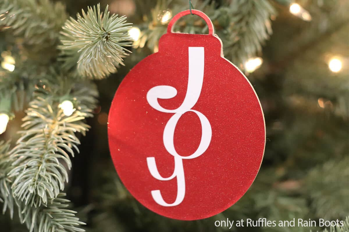 joy christmas cut file for ornament gift tag
