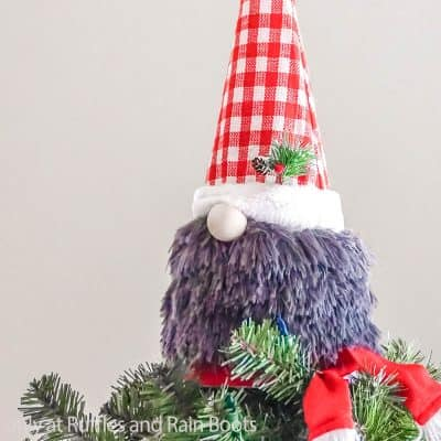 This Dollar Tree Gnome Tree Topper Is SUPER Fast and Very Cute!