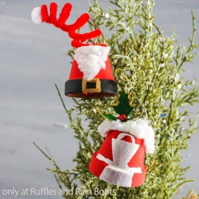 Easy DIY Santa and Mrs Claus Ornaments are a Fun Holiday Craft!
