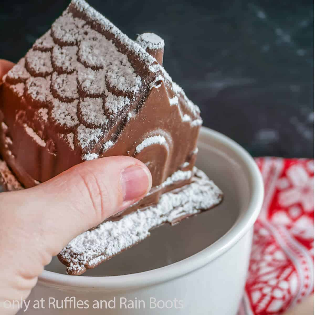 3D Gingerbread House Hot Cocoa Bombs Recipe