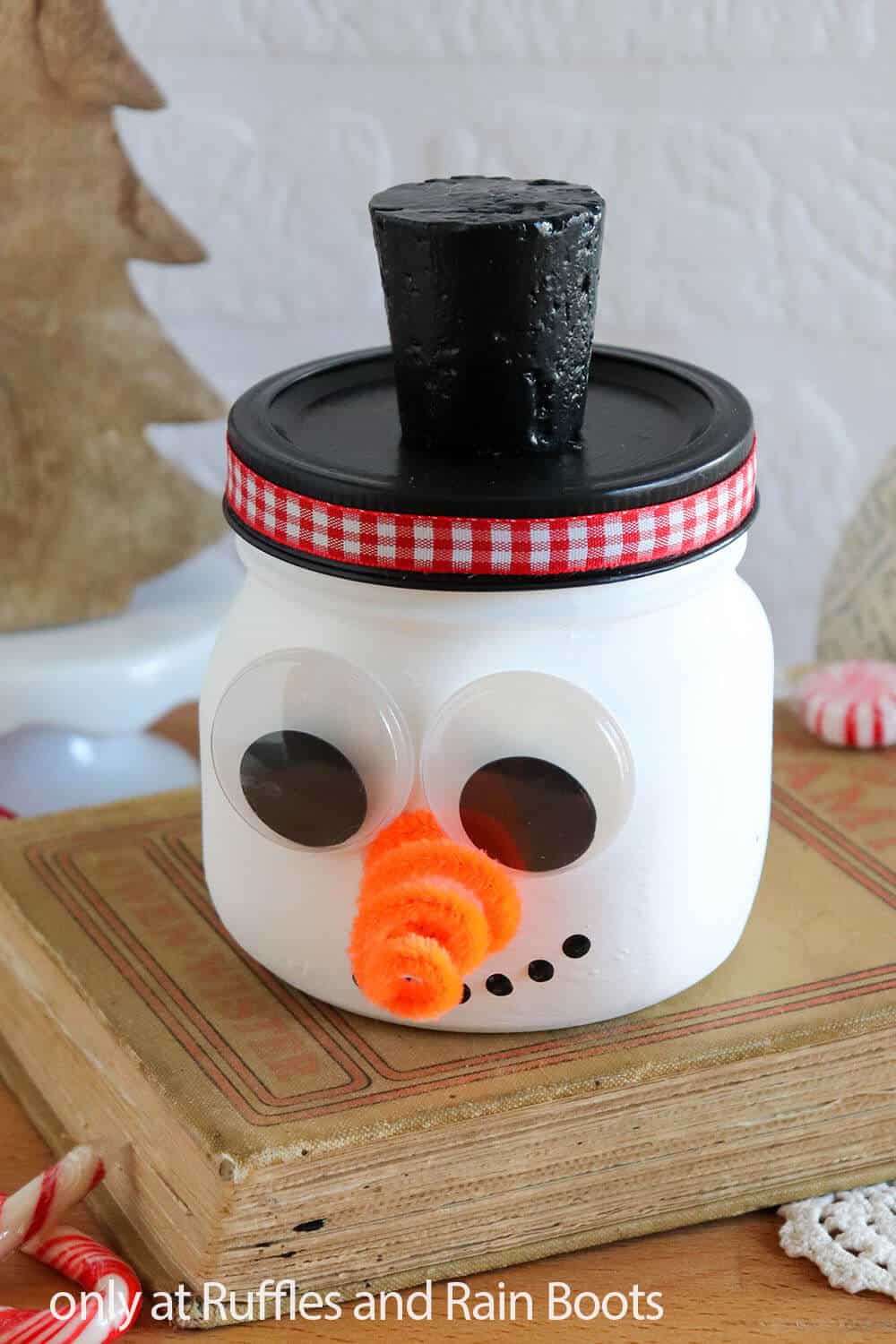 snowman jar painting craft for kids
