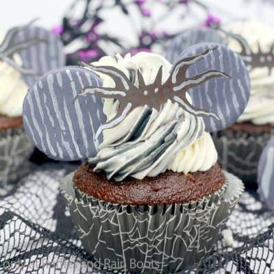 Jack Skellington Mickey Ear Cupcakes are the Spooky Season Cupcake!