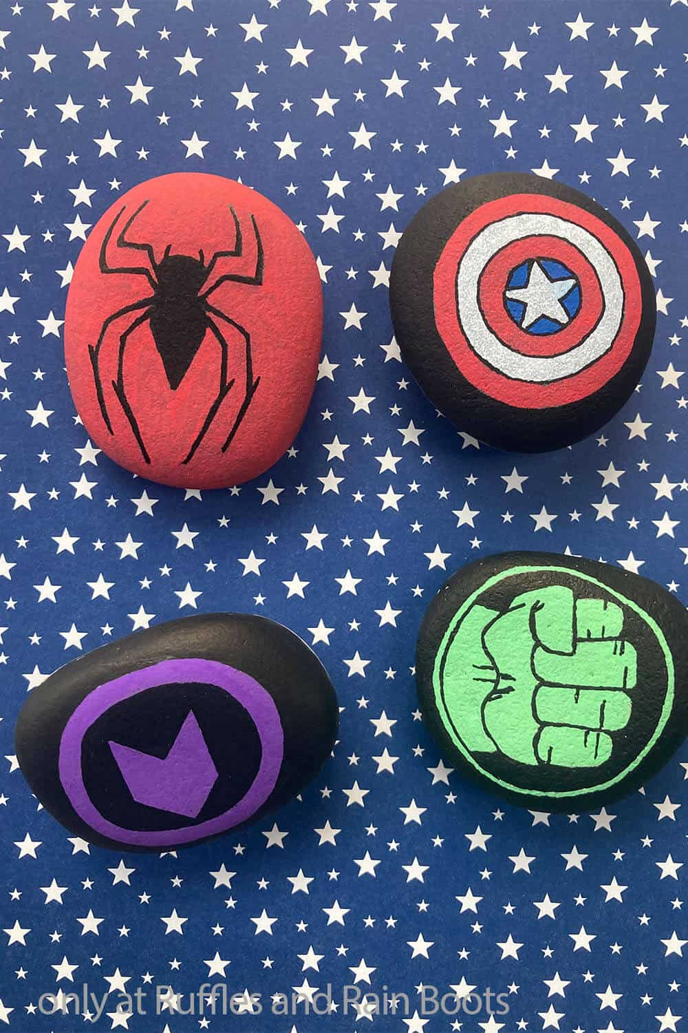 rock painting instructions for super heroes