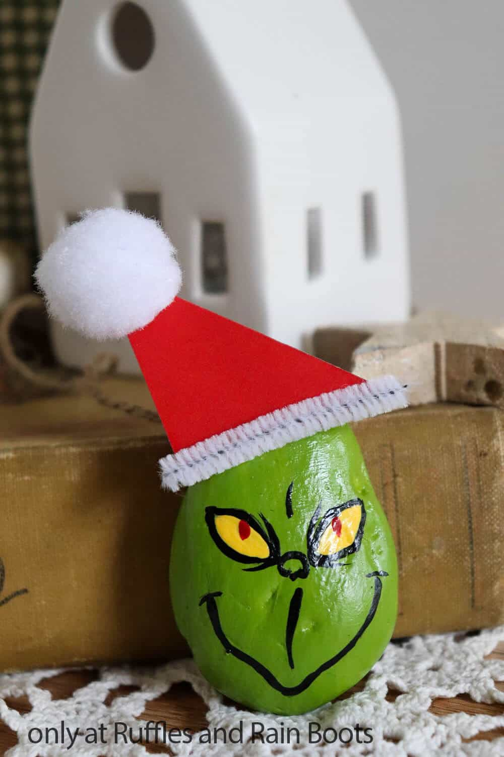 grinch movie rock painting
