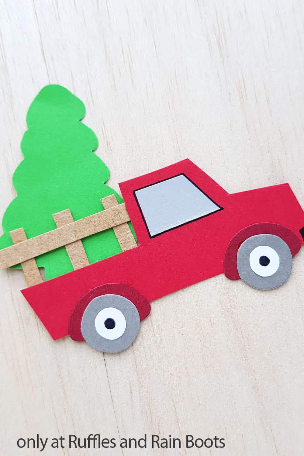 kids diy farm truck made of paper