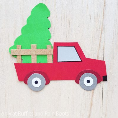 I Love How Easy This Farm Truck Kids Paper Craft Is to Make Together!