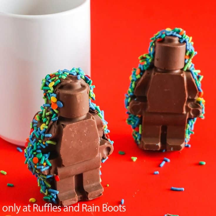 diy lego man hot cocoa bomb