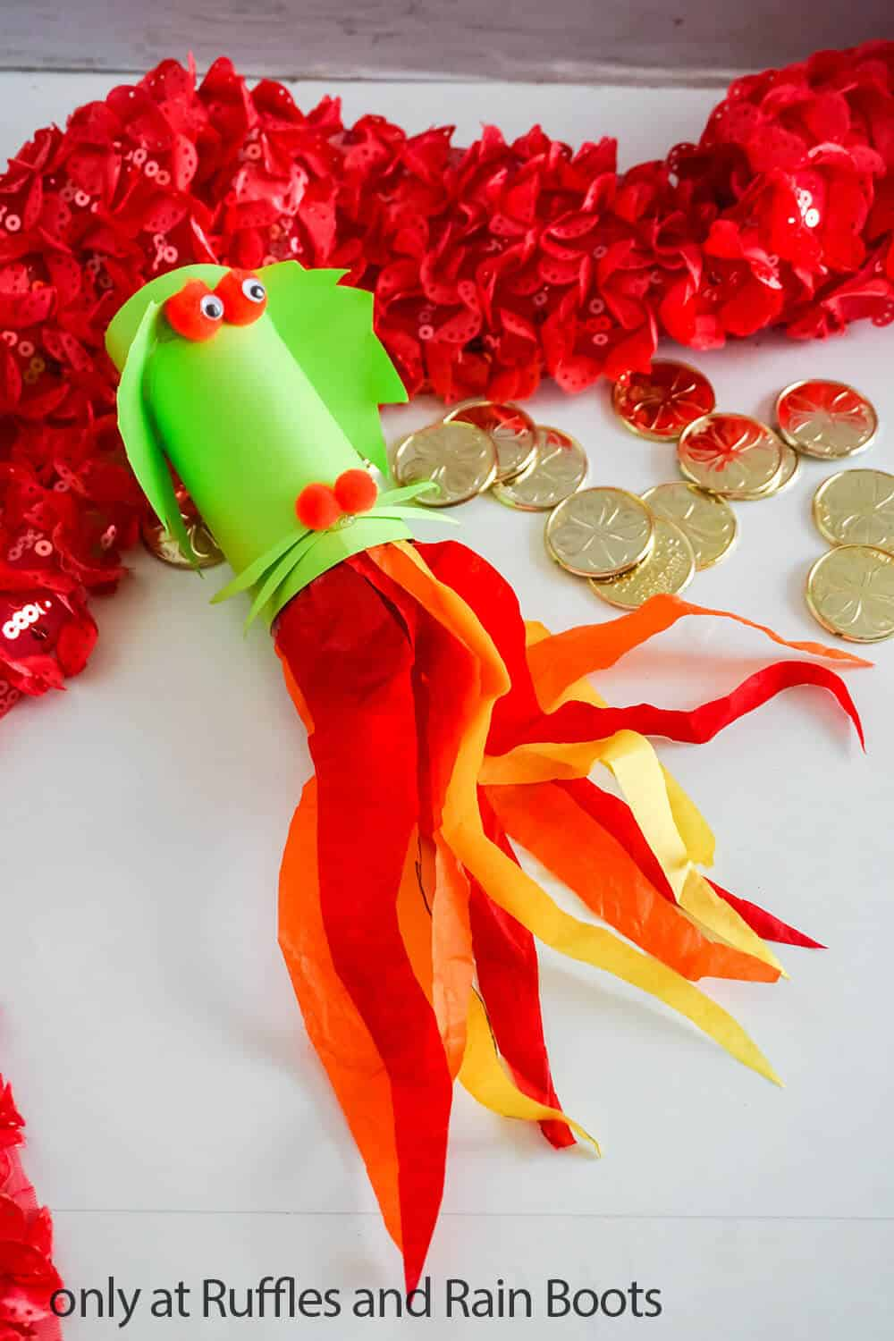 paper roll dragon craft for kids