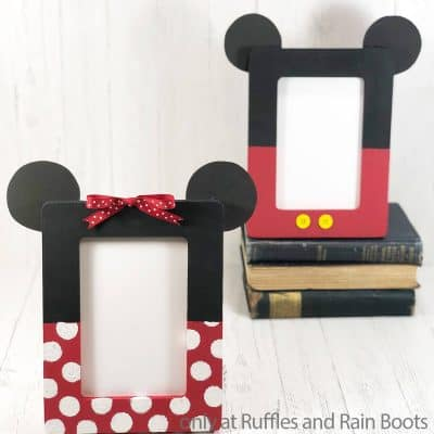 Make these Adorable Mickey & Minnie Frames in Minutes!