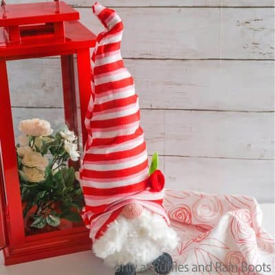 This Easy Valentines Dollar Tree Gnome with a Twisty Hat is SO FUN!