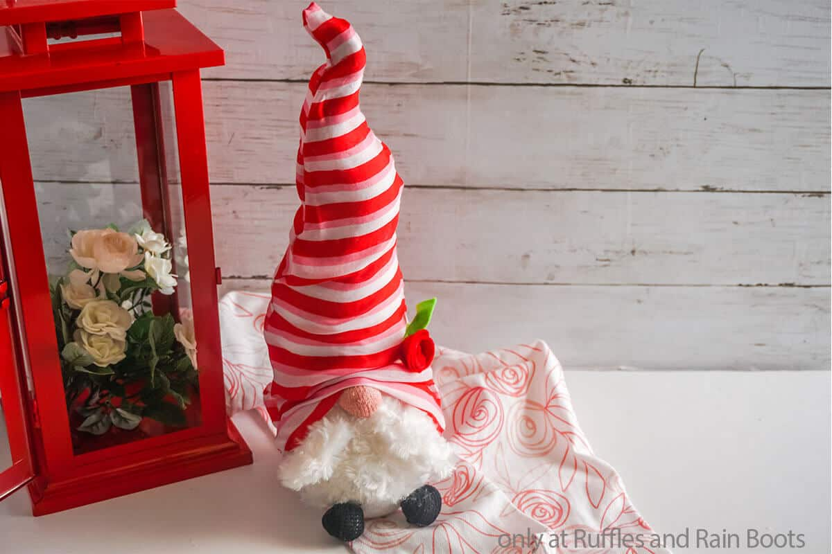 dollar store gnome for valentines