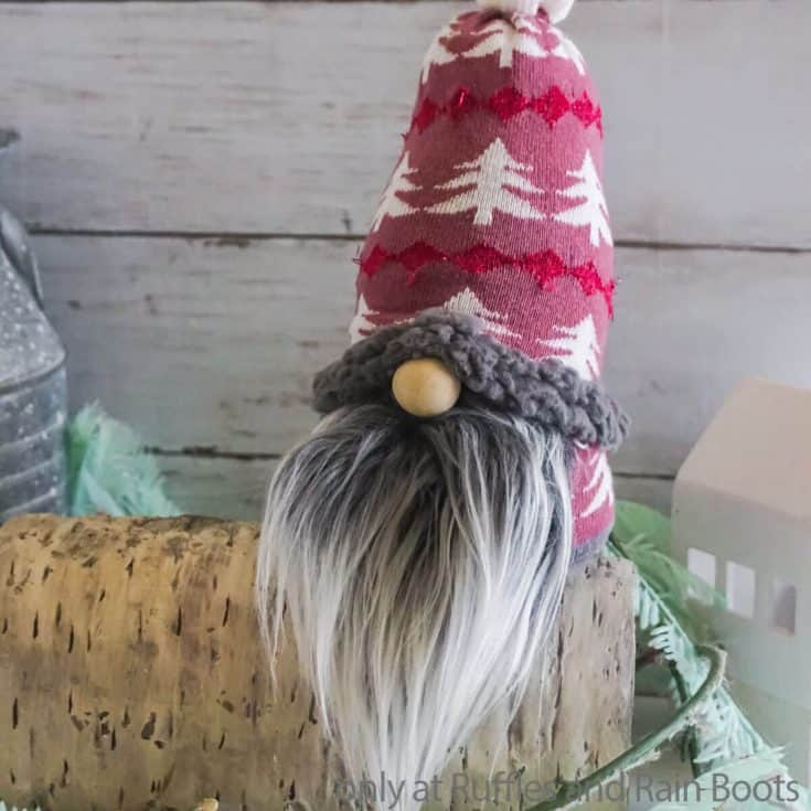 gnome made of one sock