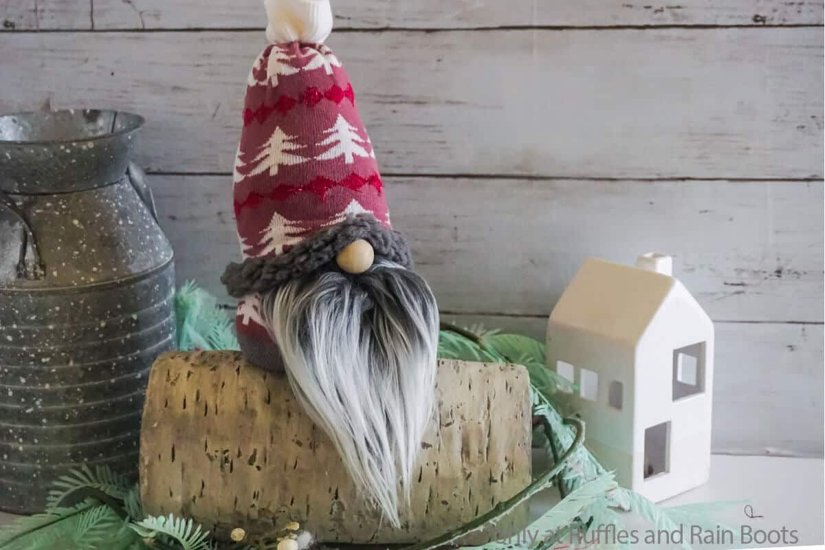 diy sock gnome made from only one sock
