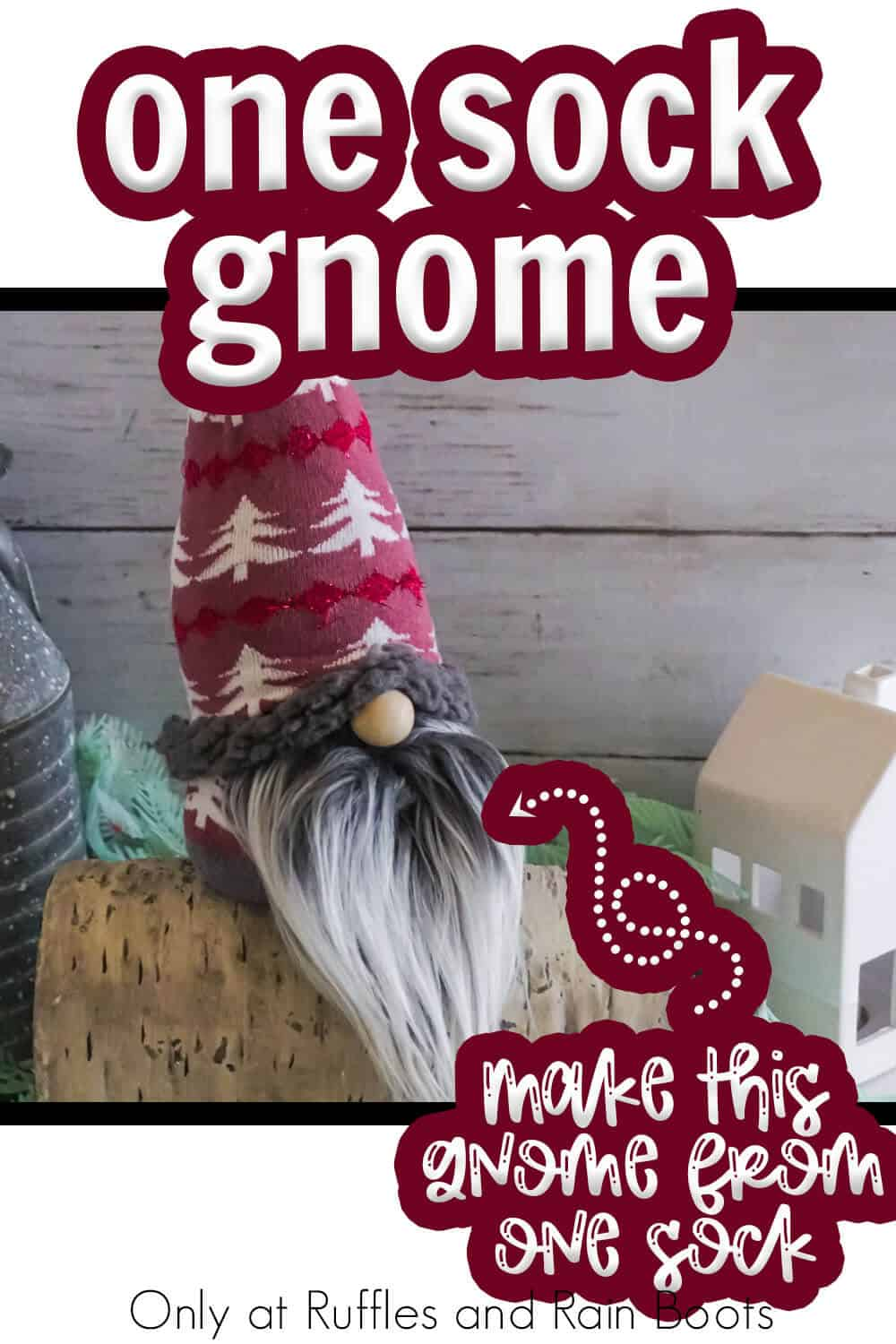 diy gnome you can make fast with text which reads one sock gnome make this gnome from one sock