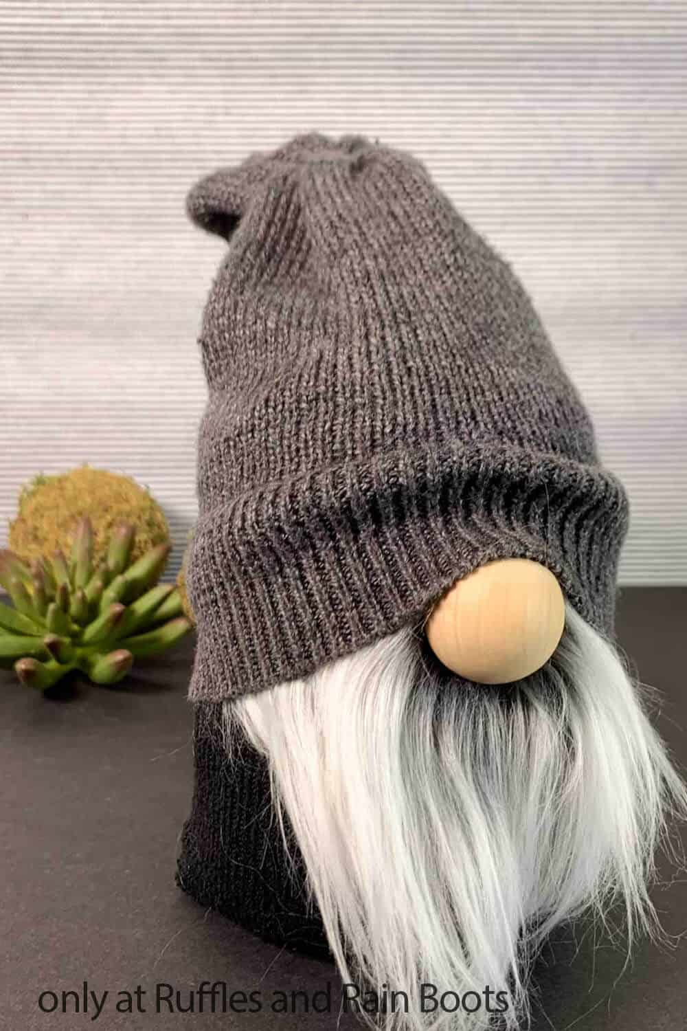 stable bodied gnome with a sweater hat