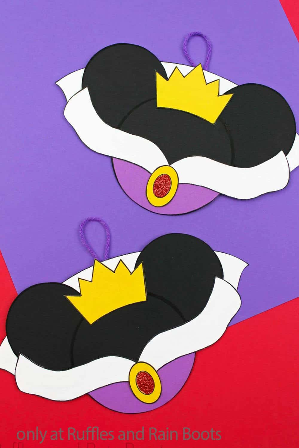 diy paper ornament snow white and evil queen
