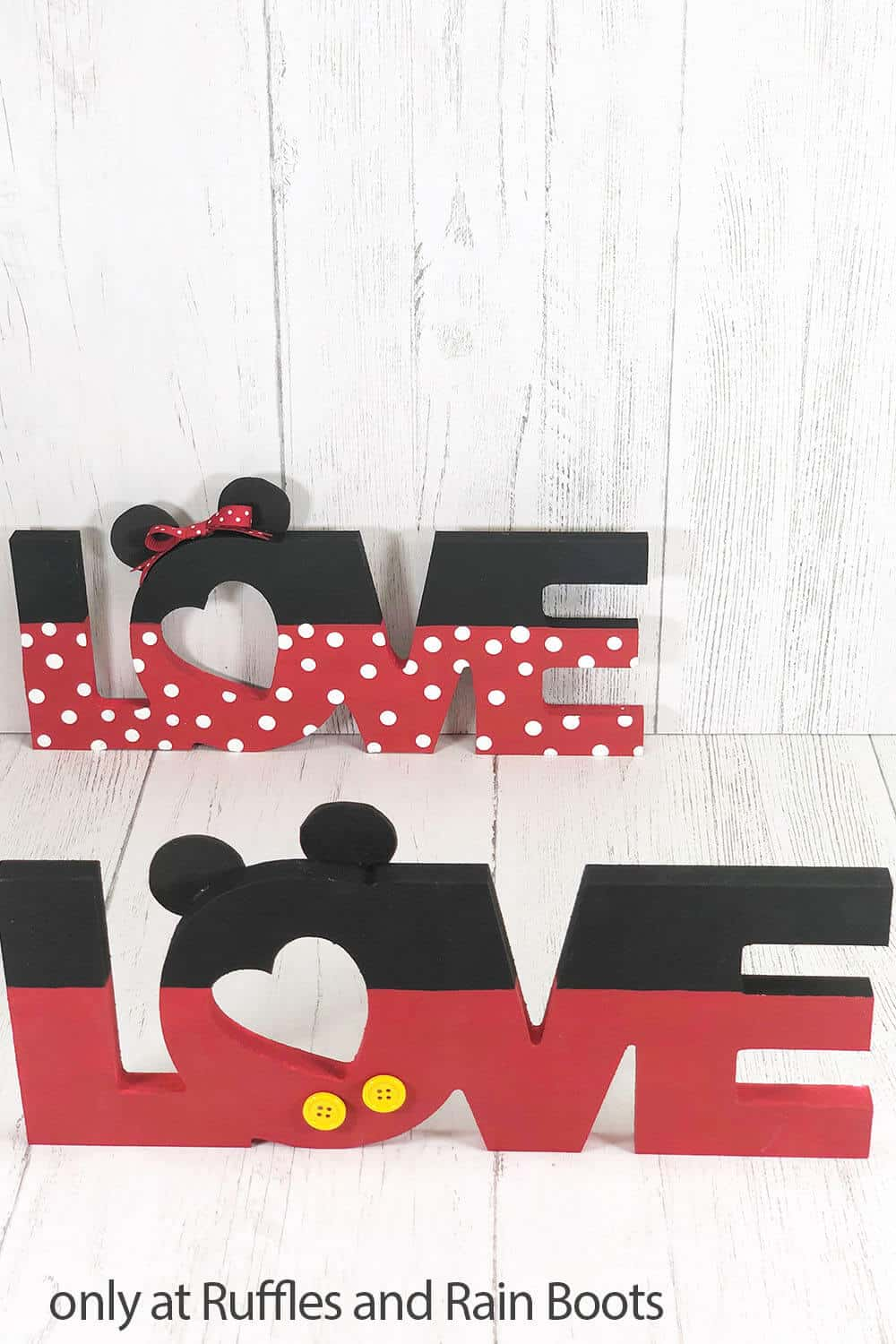 mickey mouse love sign dollar tree craft for valentines
