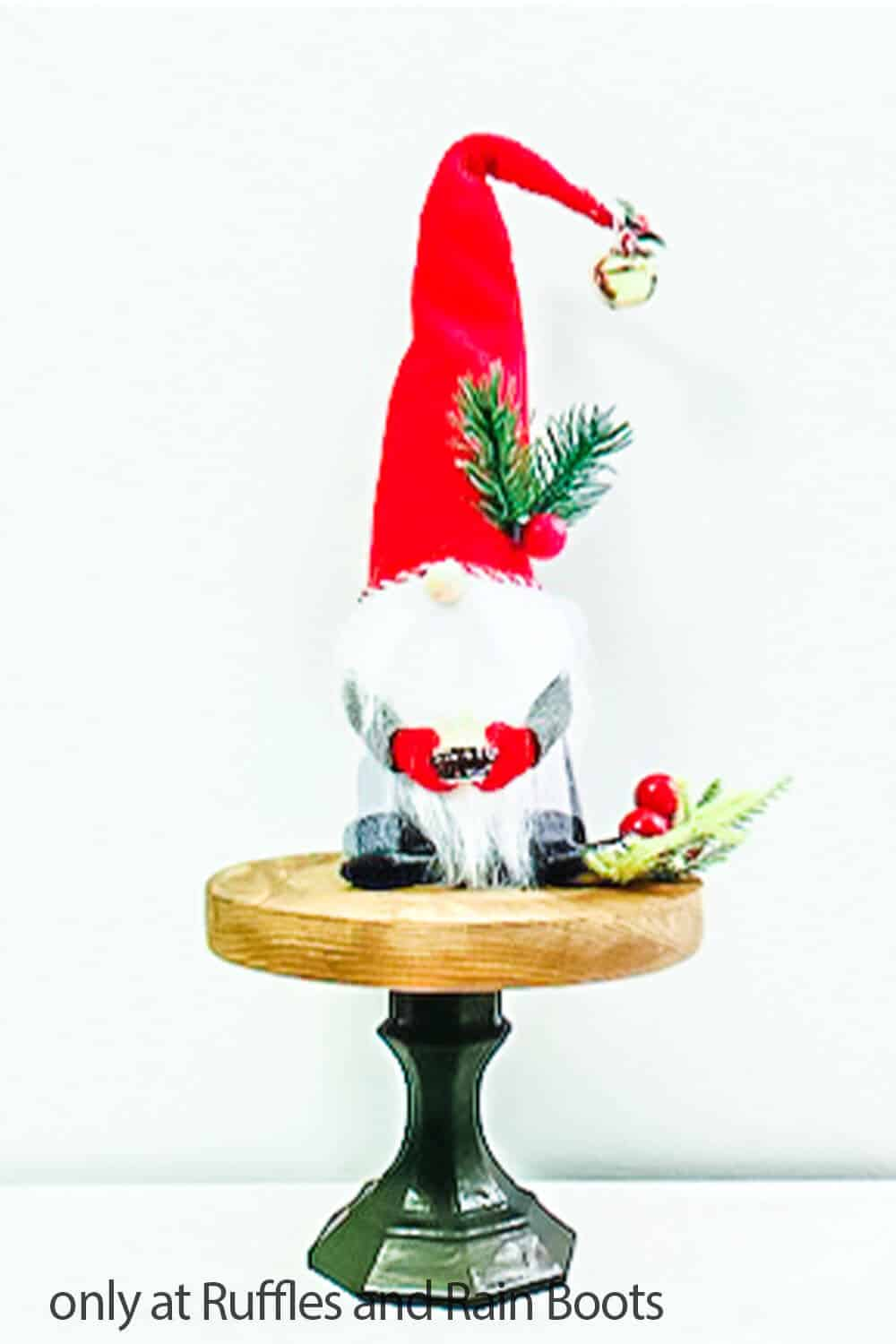 diy dollar store craft farmhouse stand for gnomes