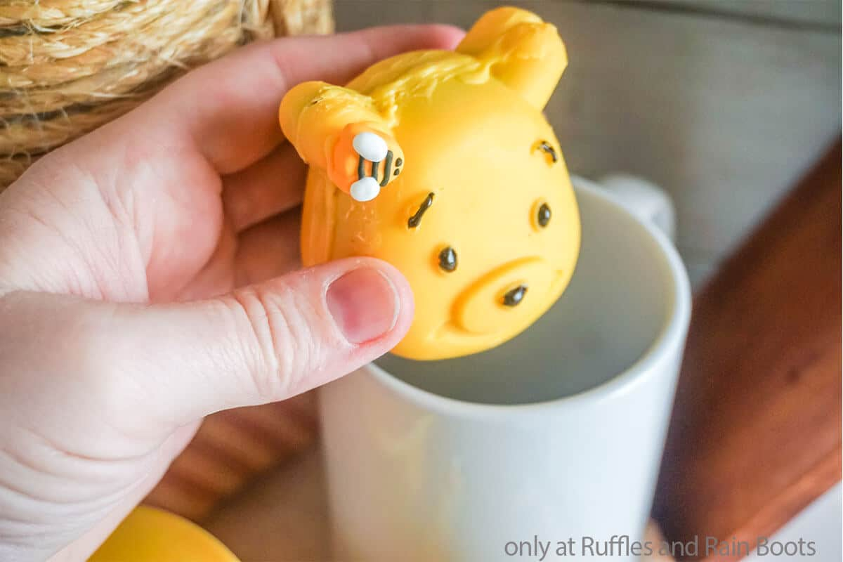 diy chocolate bomb treat for a pooh bear party