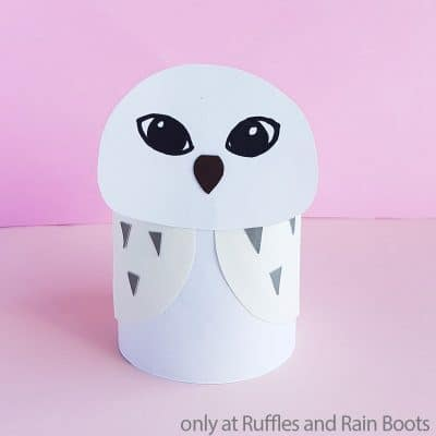 This Hedwig Paper Craft is a Fun Harry Potter Craft for Any Kid!