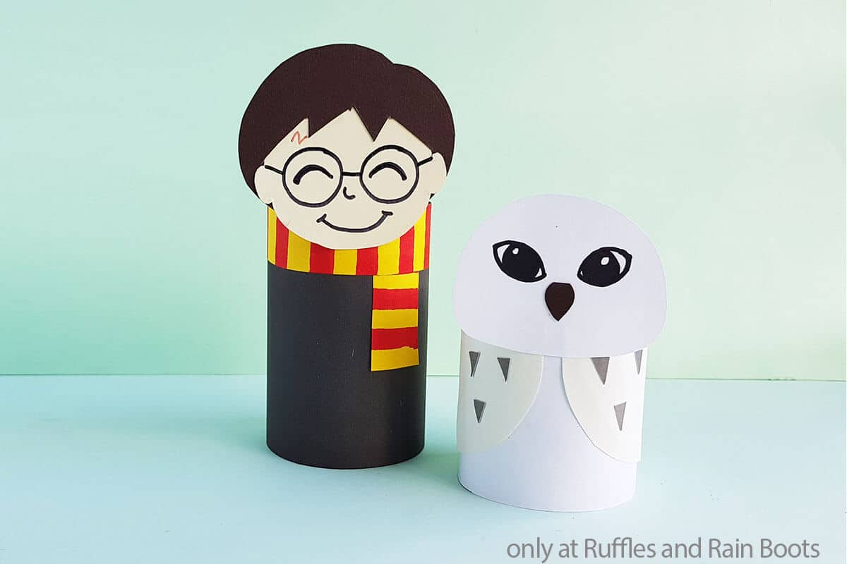 harry potter hedwig kids craft from paper