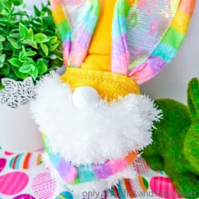Make This Fun Dollar Tree Rainbow Bunny Gnome That's Fun and Fast!