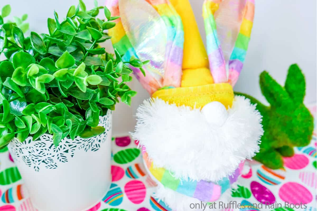 bunny easter gnome dollar tree craft