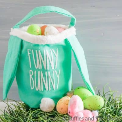 Make a No-Sew Easter Basket with these Cut Files for Cricut or Silhouette!