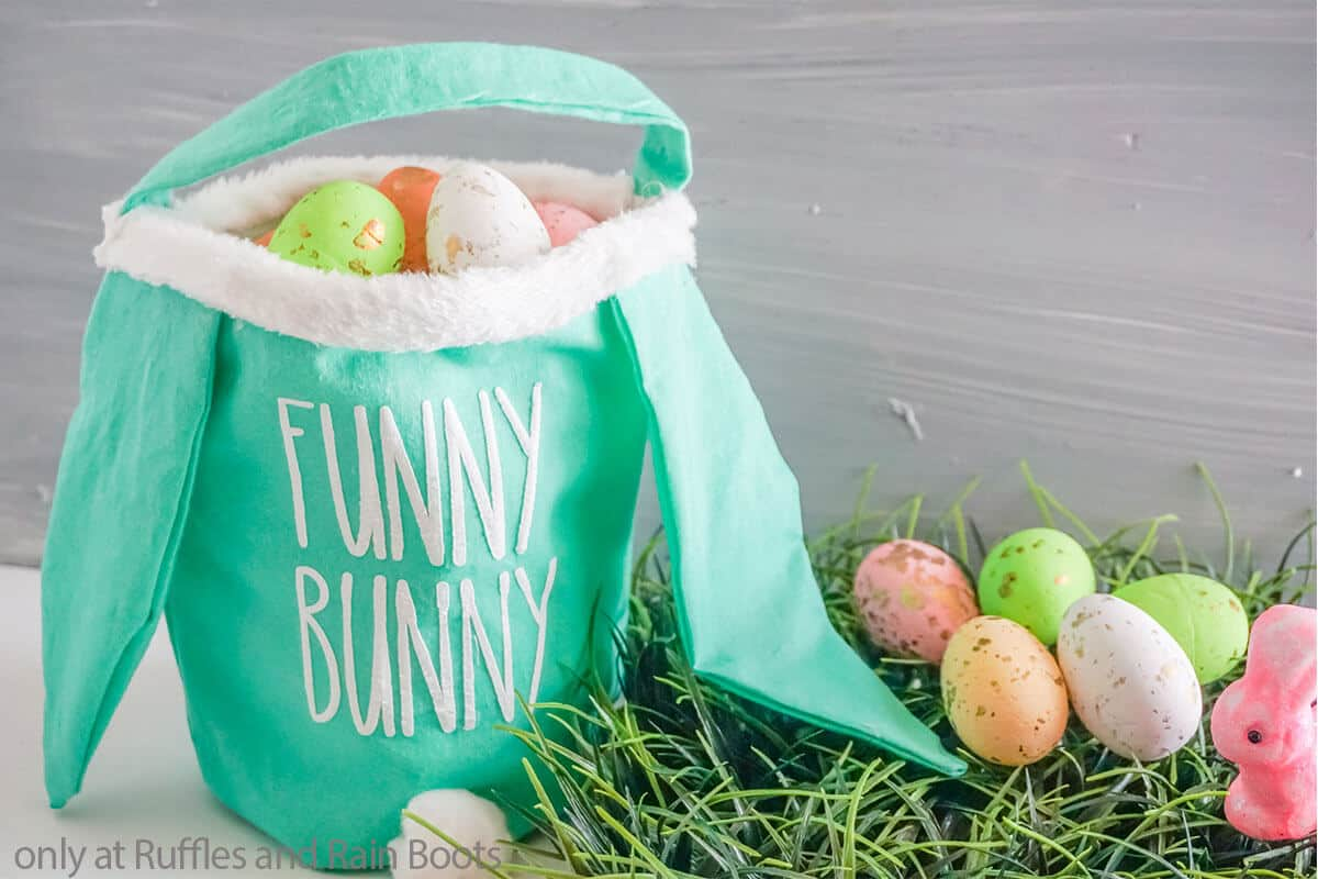 make a bunny easter basket using cricut or silhouette
