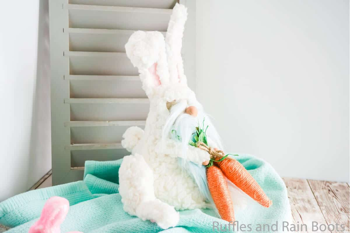 no-sew easter bunny gnome pattern