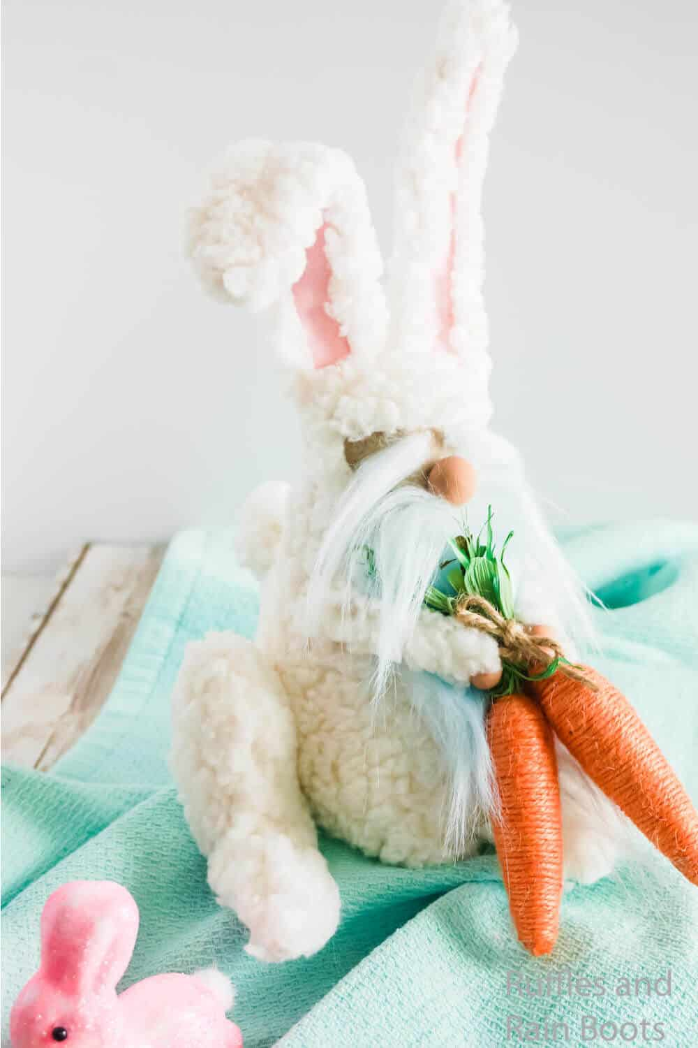 easter bunny gnome DIY no-sew pattern with video tutorial
