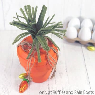This DIY Clay Pot Carrot Easter Craft is a Fun DIY For All Ages