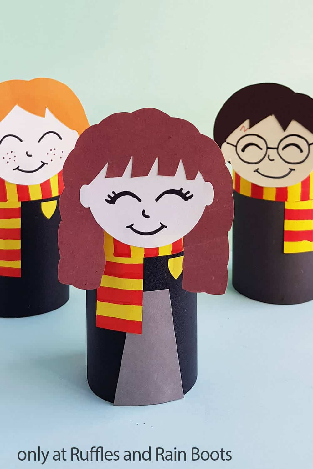 hermione paper craft doll with harry potter doll and ron weasly doll